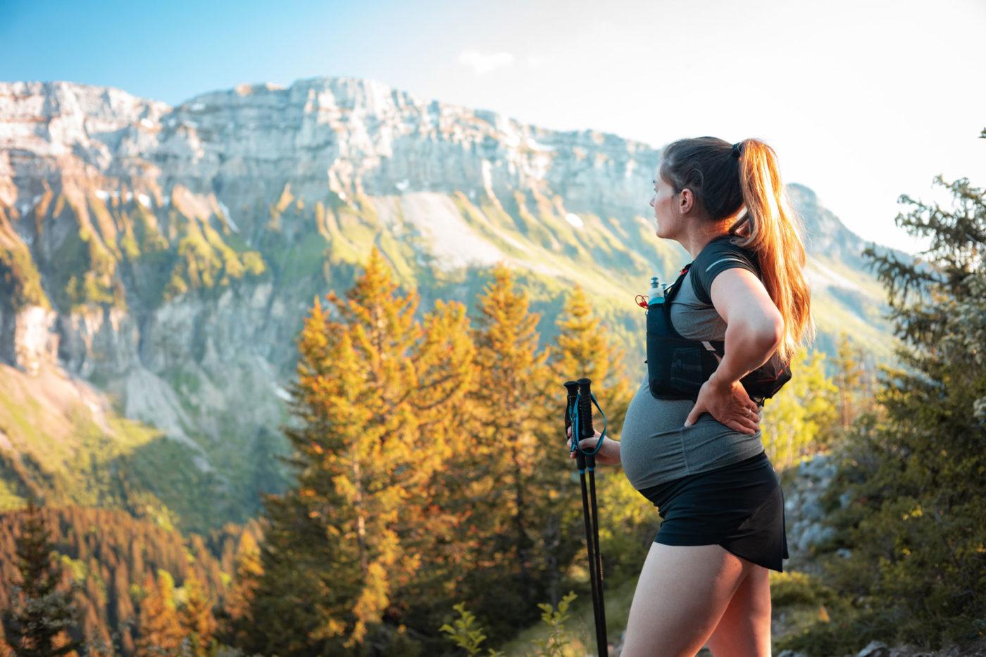 pregnant lady hiking