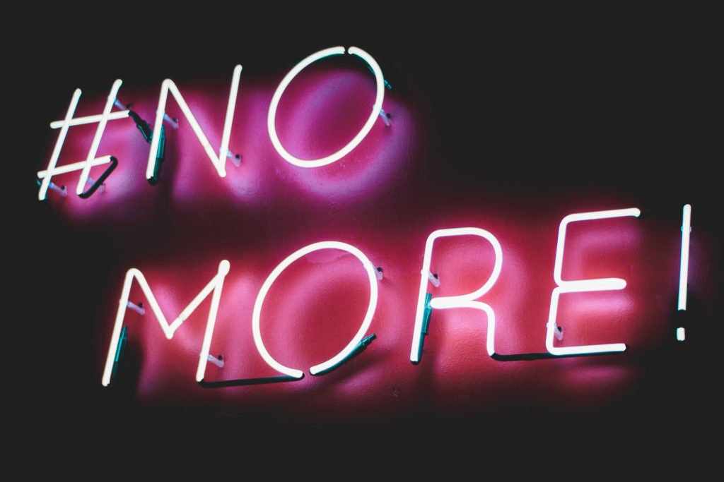 No More Neon Sign